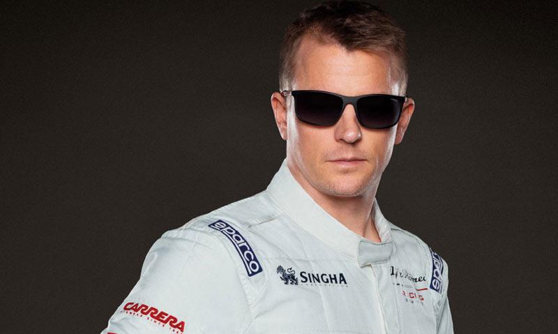 Kimi Raikkonen Carrera napszemüvegben